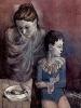 Betrübte Mutter mit Kind