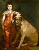 Porträt Charles des II mit Dogge